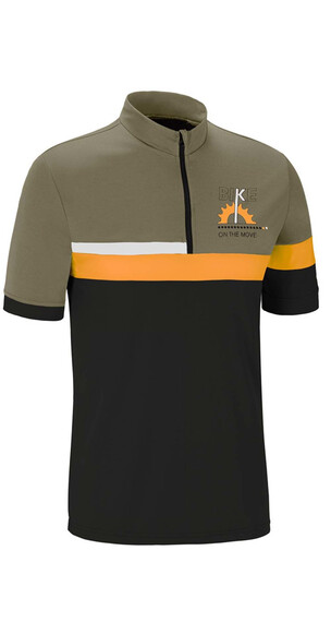 Gonso Barn Koszulka kolarska czarny/oliwkowy